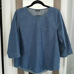 The Limited- chambray top